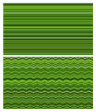Green abstract lines collage Stock Photos