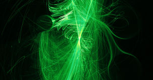 Green Abstract Lines Curves Particles Background Royalty Free Stock Photo