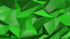 Green abstract low poly triangle background. 4k stock footage