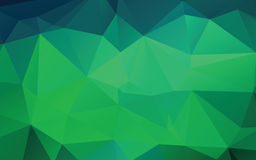 Green Abstract Low Poly Vector Background stock illustration