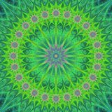 Green abstract mandala structure background design royalty free illustration