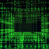 Green abstract matrix Stock Photo