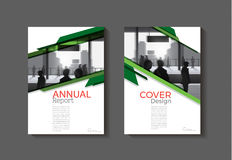 Green abstract modern cover book Brochure template, design Royalty Free Stock Photography
