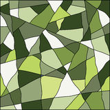 Green abstract mosaic background Stock Images