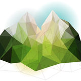 Green abstract mountain Royalty Free Stock Photography