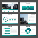 Green Abstract multipurpose presentation templates, Infographic elements template flat design set for brochure flyer leaflet. Marketing advertising banner Royalty Free Stock Photography