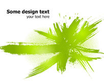 Green abstract paint splashes background. Vector Stock Images