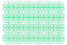 Green abstract pattern. On a white background linear Oriental style curls repeating elements vector illustration Royalty Free Stock Photography