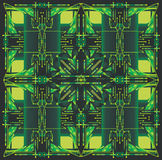 Green abstract patterns Stock Image