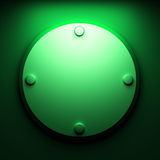 Green abstract plate Royalty Free Stock Photos