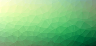 Green abstract polygon background Stock Photos