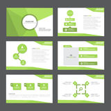 Green Abstract polygon presentation template Infographic elements flat design set for brochure flyer leaflet marketing Stock Photos
