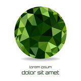 Green abstract polygonal ball. Vector illustration Royalty Free Stock Images