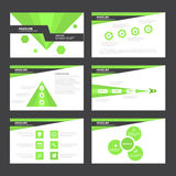 Green Abstract presentation template Infographic elements flat design set for brochure flyer leaflet marketing. Advertising Royalty Free Stock Photos