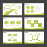 Green Abstract presentation template Infographic elements flat design set for brochure flyer leaflet marketing. Advertising Royalty Free Stock Photo