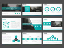Green Abstract presentation templates, Infographic elements template flat design set for annual report brochure flyer leaflet Royalty Free Stock Photography