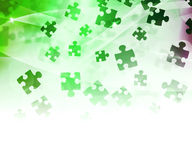 Green Abstract Puzzle Background Stock Photo