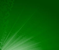 Green abstract ray background Stock Images