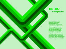 Green Abstract Retro Background. An abstract  retro background illustration in shades of green with room for copy.  The additional format is an EPS8 vector which Stock Photos