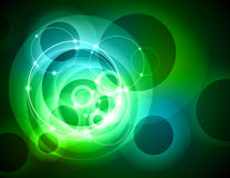 Green abstract ring background Stock Image
