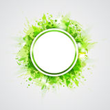 Green abstract round background Royalty Free Stock Images