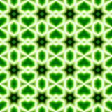 Green abstract seamless pattern backgrounds. Green abstract seamless pattern geometric shape figures and green heart background Royalty Free Stock Images
