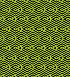 Green abstract seamless pattern with interweave lines. Vector Stock Photos