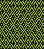 Green abstract seamless pattern with interweave lines. Vector or Stock Photography