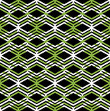 Green abstract seamless pattern with interweave lines. Royalty Free Stock Photo