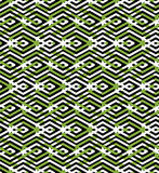 Green abstract seamless pattern with interweave lines. Vector or Royalty Free Stock Image