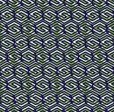 Green abstract seamless pattern with interweave lines. Vector ov Royalty Free Stock Images