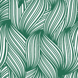 Green abstract seamless pattern of striped leaves Royalty Free Stock Photo