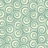 Green abstract seamless pattern with swirls Royalty Free Stock Photos