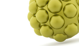 Green abstract spheres background. Rendered Royalty Free Stock Photo