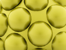 Green abstract spheres background. Rendered Stock Illustration