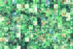 Green abstract squares background Stock Photos