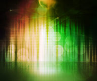 Green Abstract Stage Background Royalty Free Stock Images