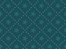 Green abstract star concept seamless pattern. Stock Images