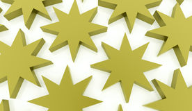 Green abstract stars background. Rendered Royalty Free Stock Image