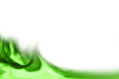 Green abstract swirls. Water like but green abstract illustration Stock Image