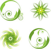 Green abstract symbols Stock Images