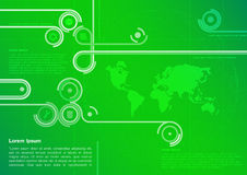 Green Abstract Technology Background Stock Photography