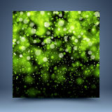 Green bokeh abstract background. For website, banner, business card, invitation, postcard Royalty Free Stock Photography