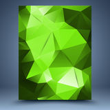 Green vector geometric pattern abstract background Royalty Free Stock Photography