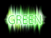 Green abstract text. The green abstract text graphics Royalty Free Stock Photos