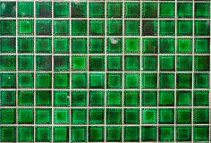 Green abstract tile pattern Stock Photo