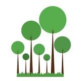Green Abstract Trees Stock Photos