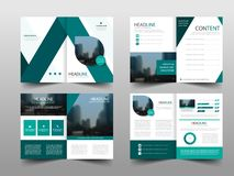 Green abstract triangle annual report Brochure design template vector. Business Flyers infographic magazine poster. royalty free stock photos