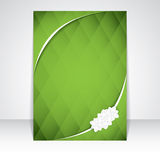 Green abstract triangular background Royalty Free Stock Photo