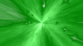 Green abstract tunnel stock video footage